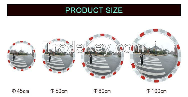 outdoor reflective convex mirror for road traffic security high quality competitive price wide viewing angle