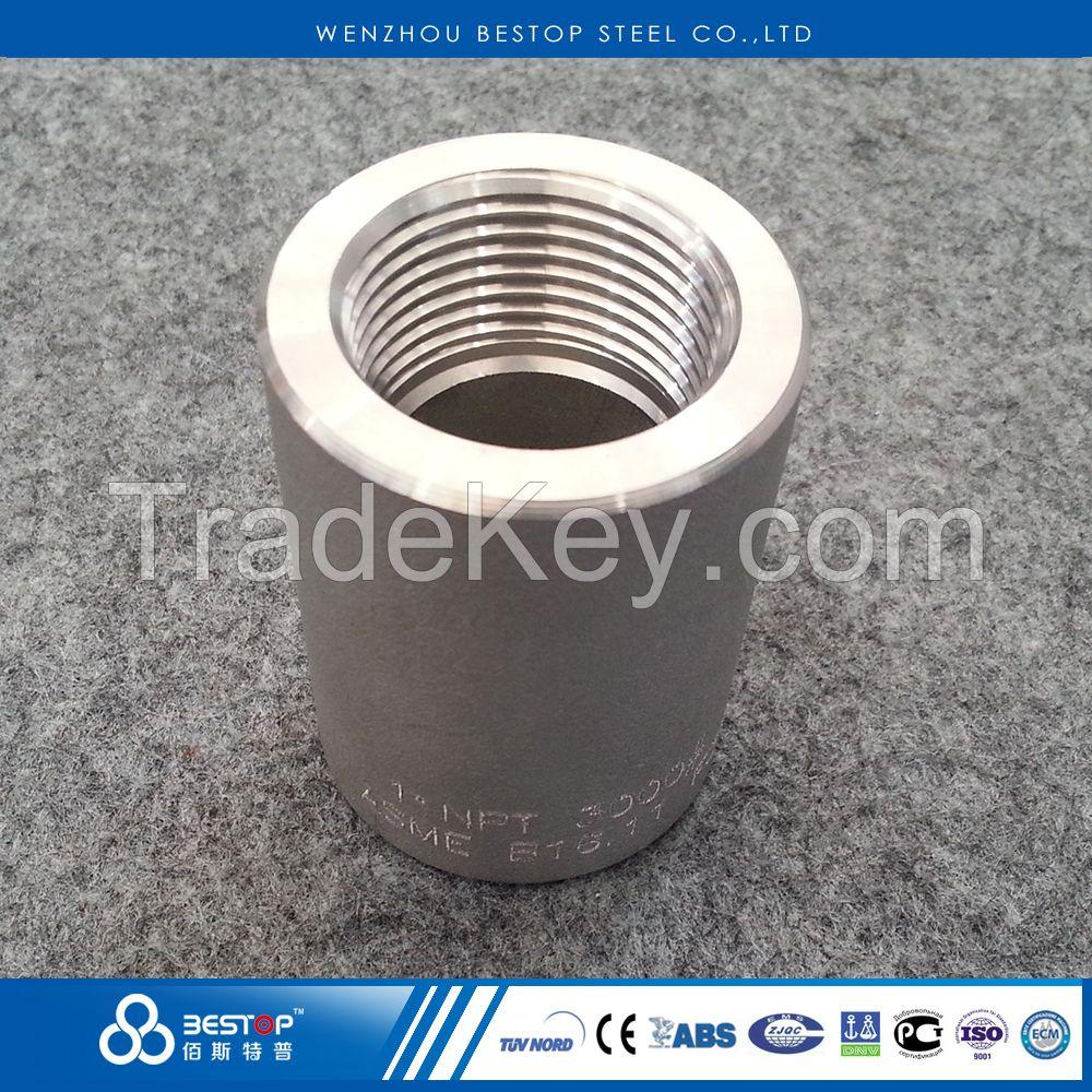 NPT / BSP Stainless Steel Forged Female Threaded Half / Full Coupling high pressure pipe fittings