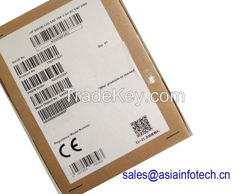 HPE 759548-001 759212-B21 600GB 12G SAS 15K rpm SFF (2.5-inch) SC Enterprise Hard Drive