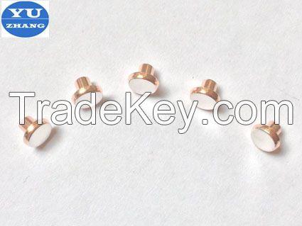 bimetal silver and copper contacts
