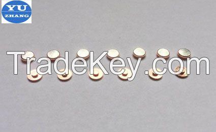 silver rivet contacts