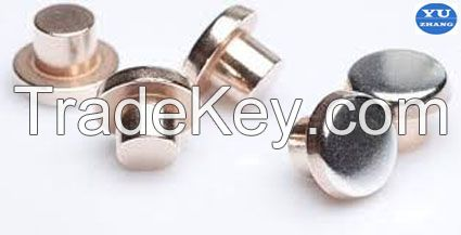 bimetal silver contacts alloy for the relay