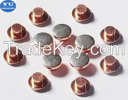 bimetal rivet contacts for thr relay