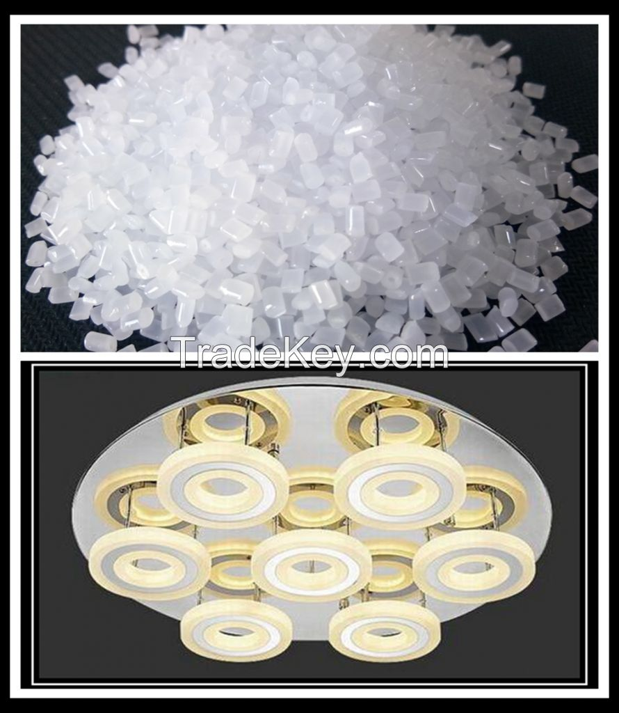 High-performance modified PC resin with light confusion effect
