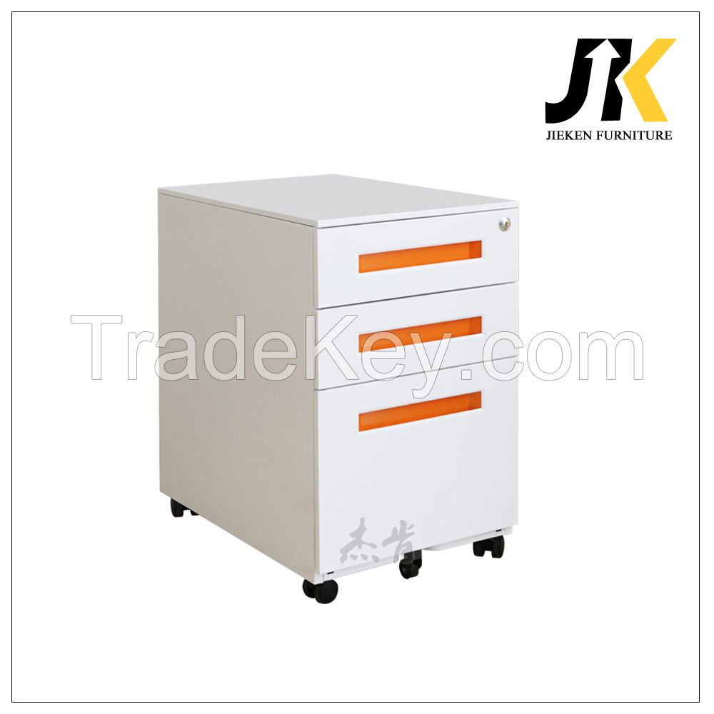 office movable 3 drawer file cabinet