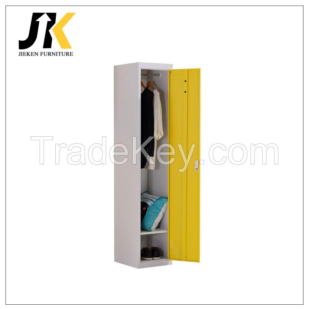 Single door metal wardrobes locker