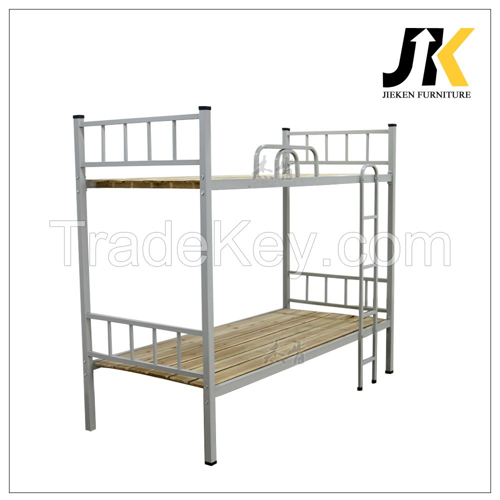 Cheap dormitory adult metal frame bunk beds for office school or army