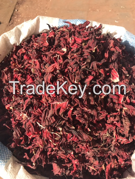 Dried Hibiscus Flower By Khalid Makki For Import And Export Sudan