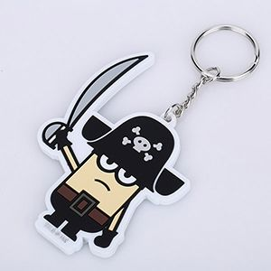 Key Chains Cartoon 3d Key Chains Customized Pvc Soft LED light Keychains Promotional Gifts