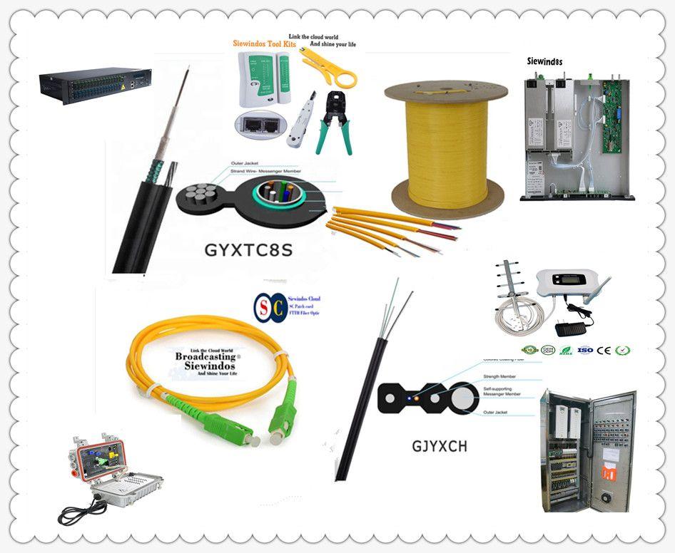 Siewindos Link SL Fiber Optical Cables (ADSS, FTTH, GYXTC8Y)