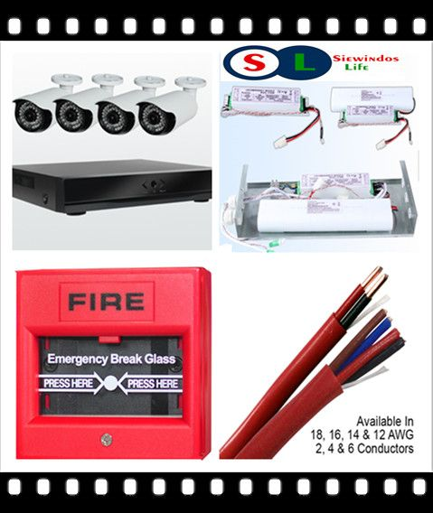 Siewindos Life Security CCTV System productos Security Fire Cables
