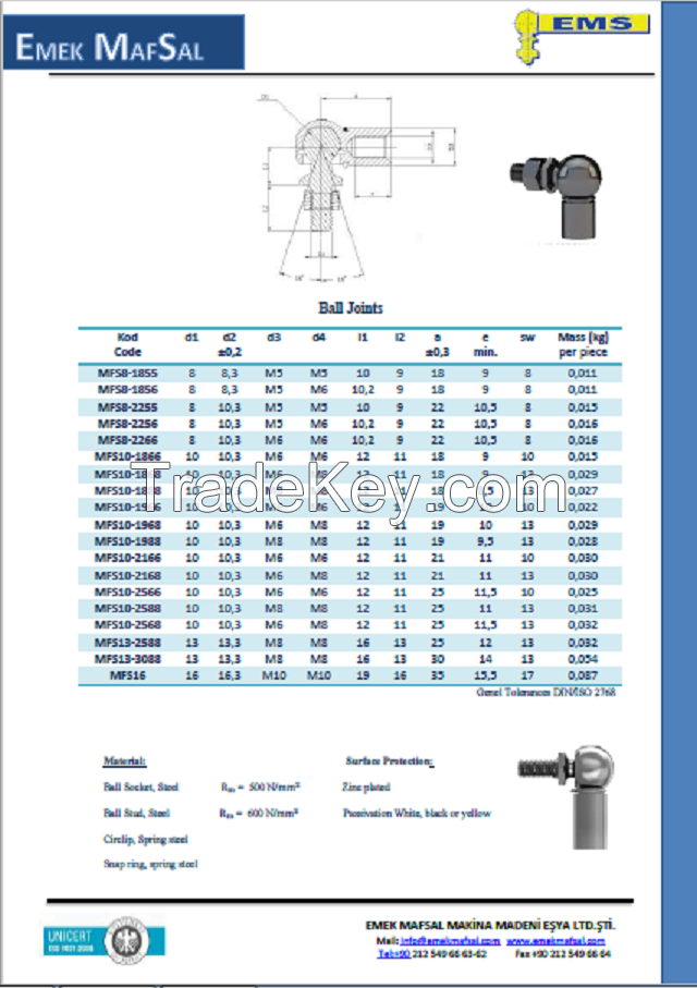 Din 71802 Ball Joint