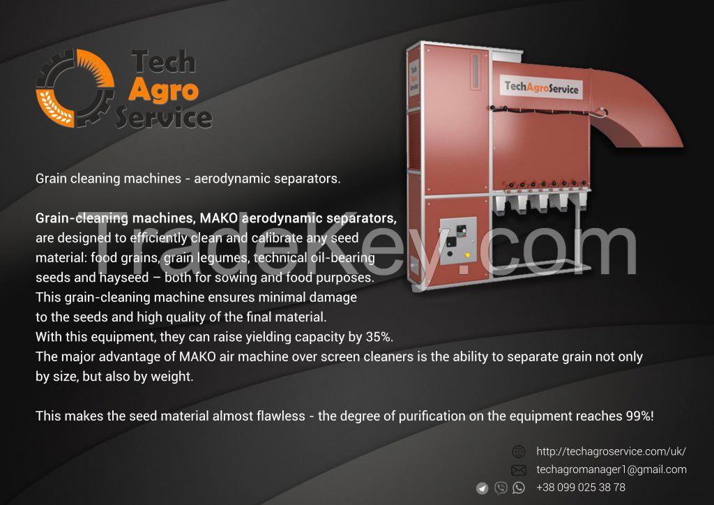 Aerodynamic separator