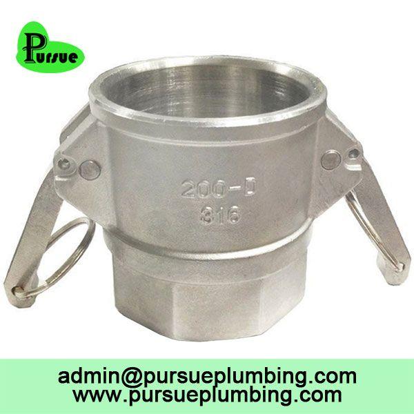 stainless steel 304 316 aluminum Camlock D female threaded coupler