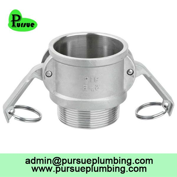 stainless steel 304 316 aluminum Camlock B male coupler