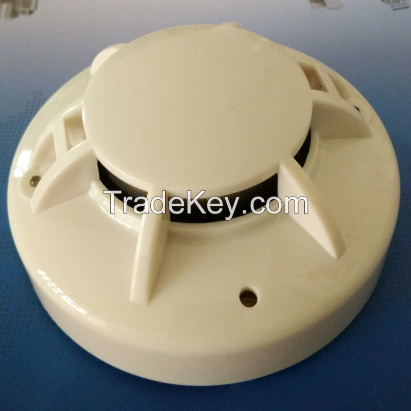 EN54 certified 2-wire conventional smoke detector photoelectric smoke alarm sensor