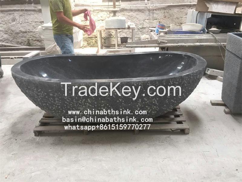 G6654 dark grey granite bathroom tubs