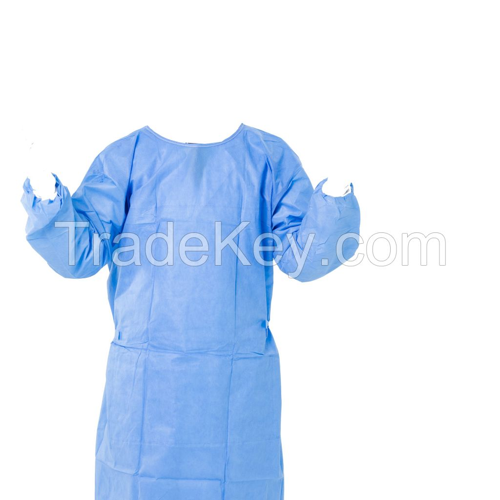 Disposable Sterile or non Sterile Surgical Isolation Gown with AAMI standards