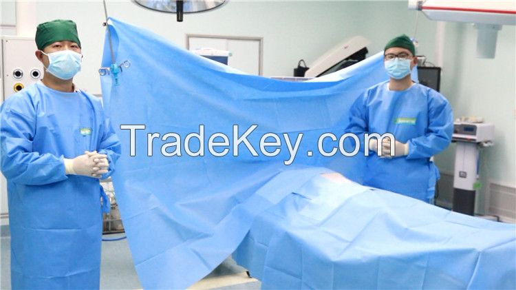 Medical Surgical Disposable Gown And Universal Drape Set