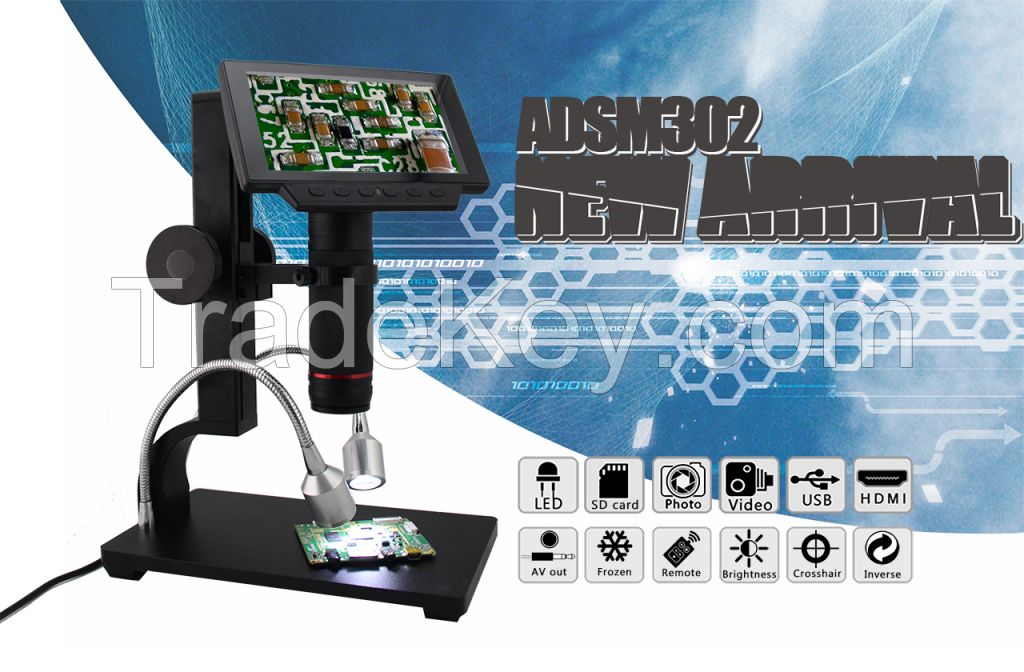 ANDONSTAR NEW HDMI/USB microscope long object distance digital microscope for mobile phone rapair soldering tool bga smt watch