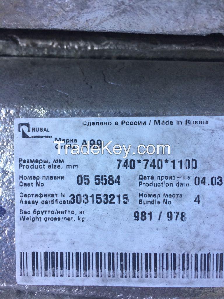 Aluminum RUSAL A4; A8