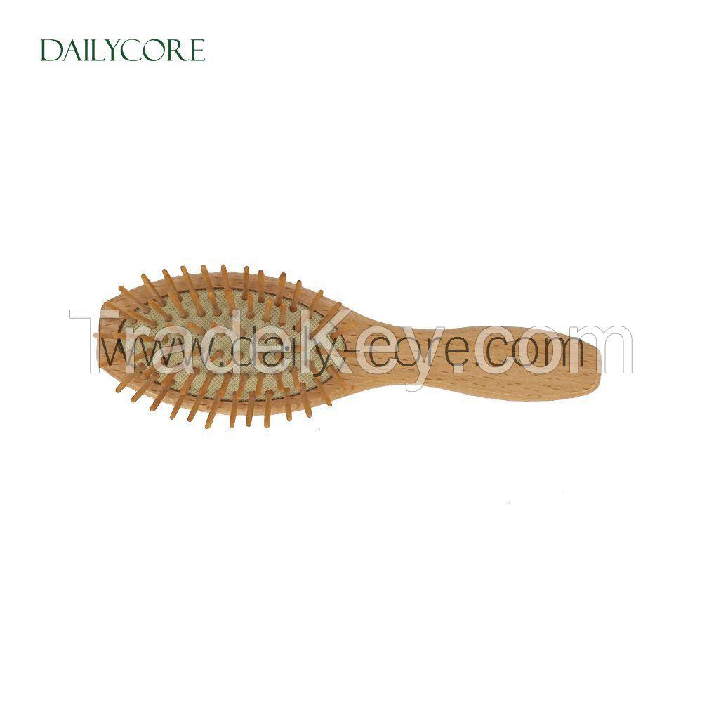 Natural Wooden Massage Hair Brush DC-HB004