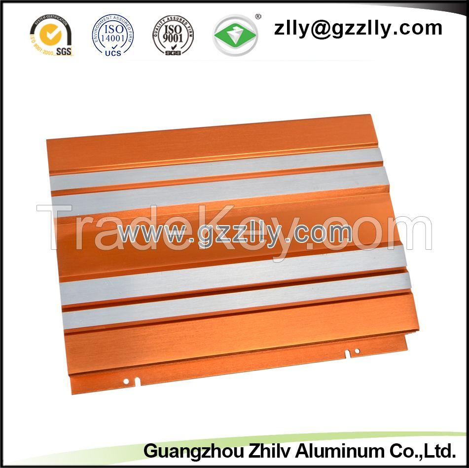 6063 T6 Aluminum Extrusion Profile for Car Audio Equipment Radiator