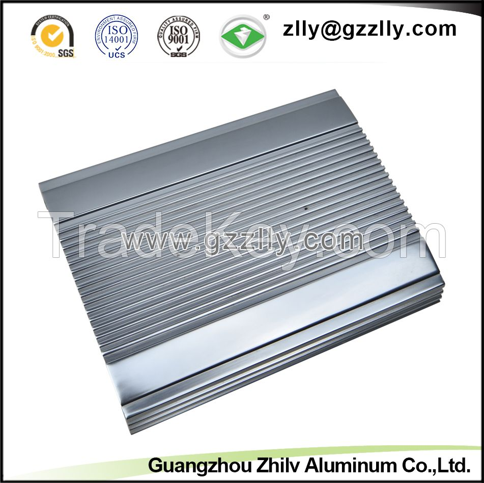 6063 T6 Aluminum Extrusion Profile for Car Audio Equipment Radiator