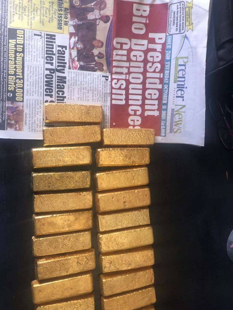 Gold Bar From Sierra Leone