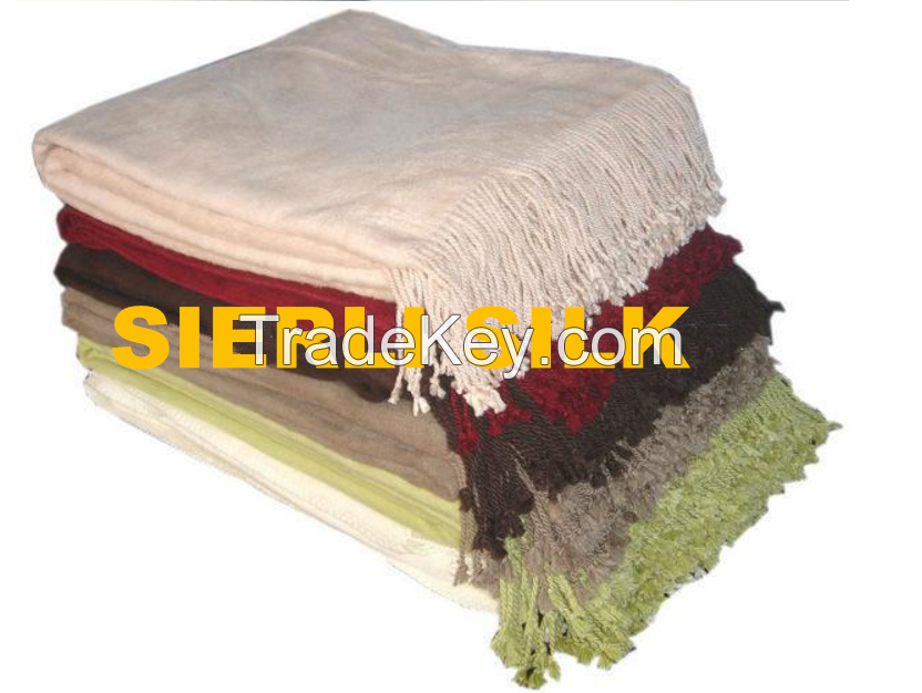 Bamboo throw , soft and comfortable bamboo throw ,bamboo firber throw