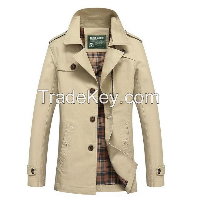 Brand Clothing Men's Jacket Cotton Coats M-5XL Size Multiple Color Outerwear Cheap Wholesale