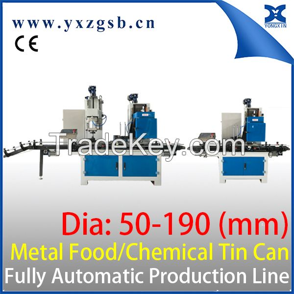 0.25-5L Round Chemical Can Making Packaging Line