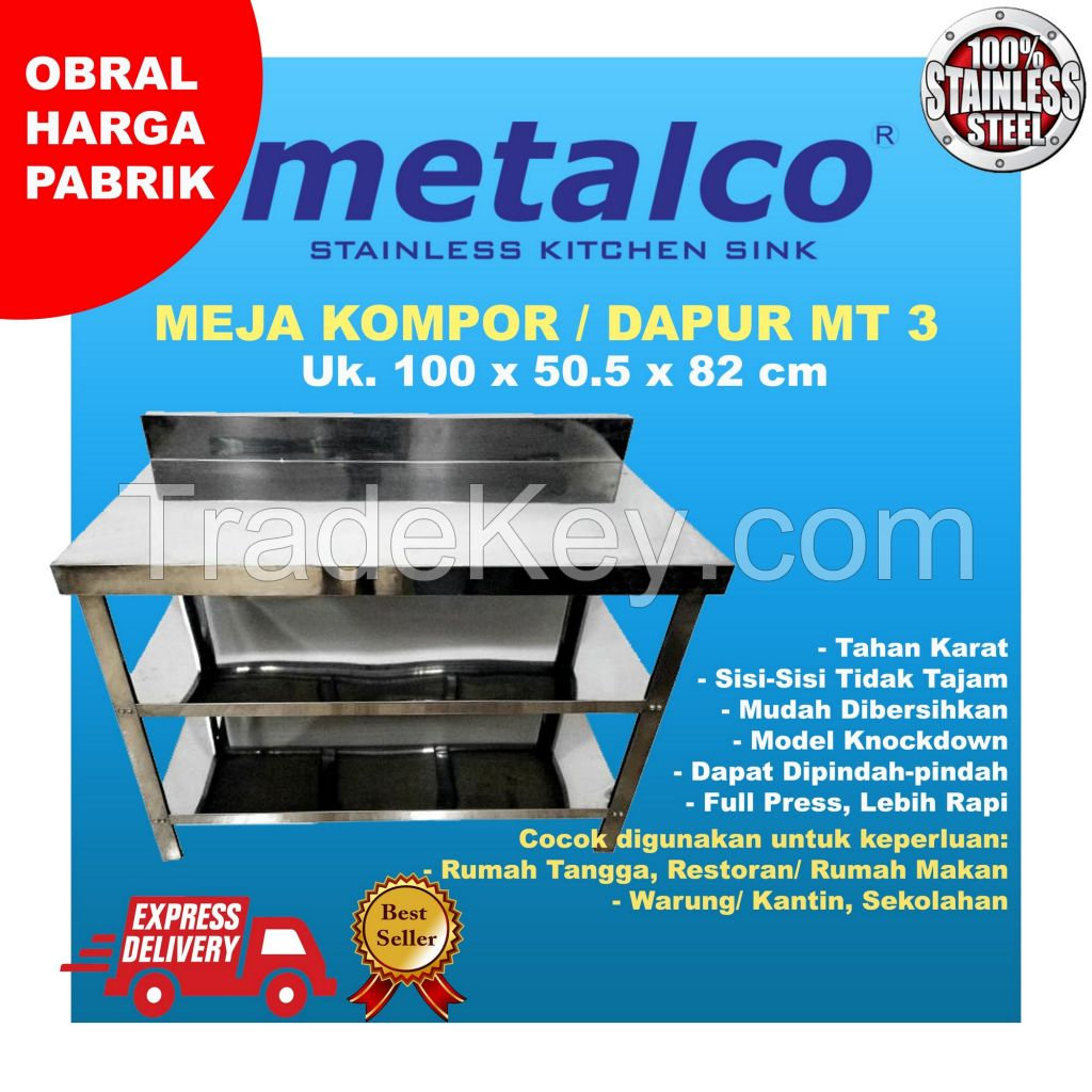 MT3 Table Stainless kitchen sink / for tv / cooking best quality trevizo