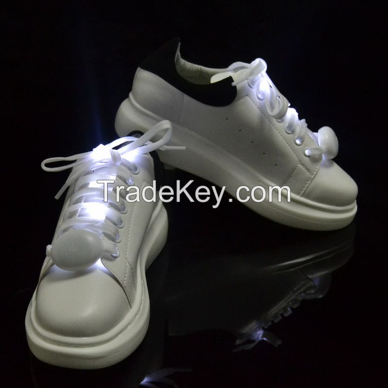 Christmas Gift LED Flashing Shoelaces Glow Shoe Laces for Running/Jogging/Walking/Danceing