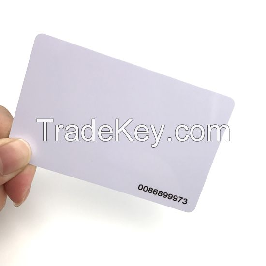 13.56Mhz HF CR80 RFID Blank Cards With Mifare 1K Chip
