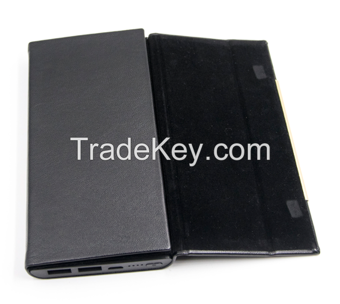 Hot Sale Wireless Power Bank Mobile Phone Charger 5V 2.4A Output With PU Wallet
