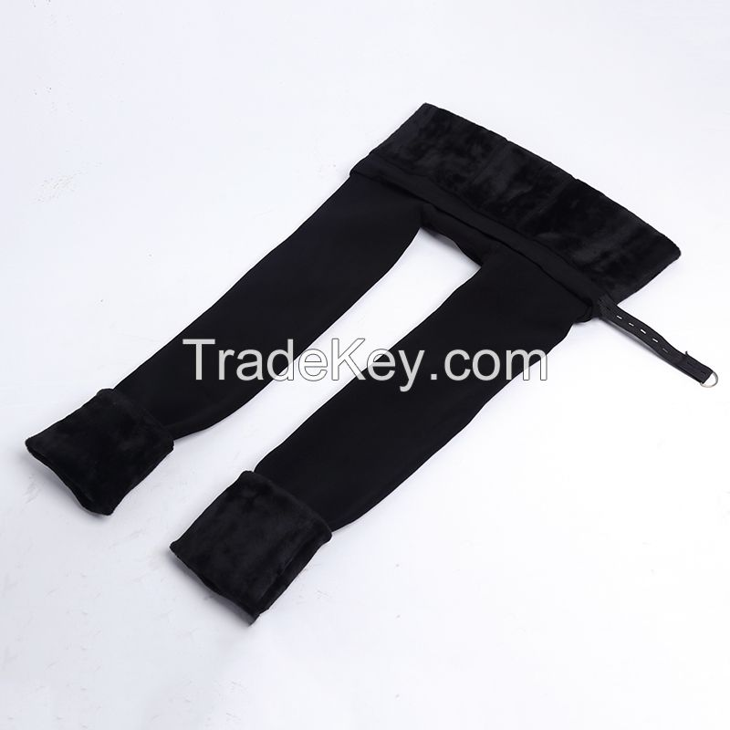 450gwomen's thick warm super soft pregnant protact baby  slimming napped  high waist tights pants