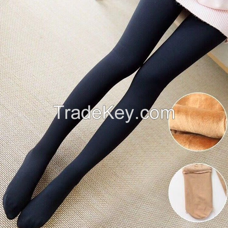 Womens' Thick Warm High Wasit PlusSize Stirrup Slimming NappingTights Leggings Pants