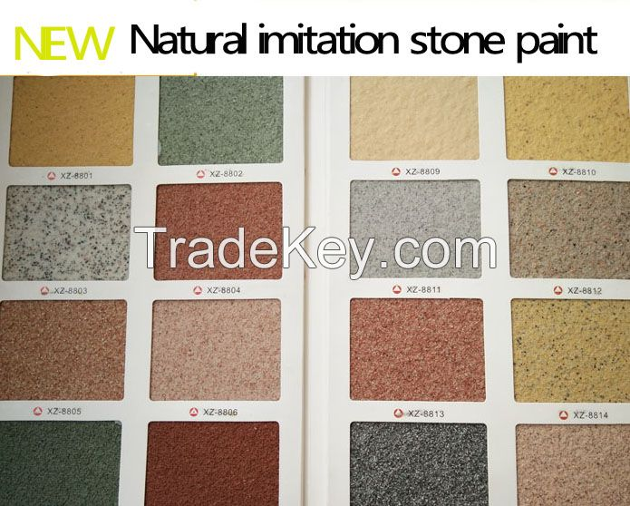 Textured artistic coating  natural colorful Building coating imitation stone wall paint