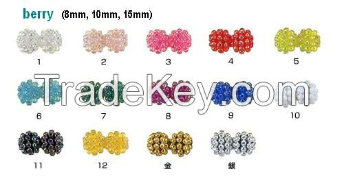 Japanese quality plastic round beads / direct from manufacturer