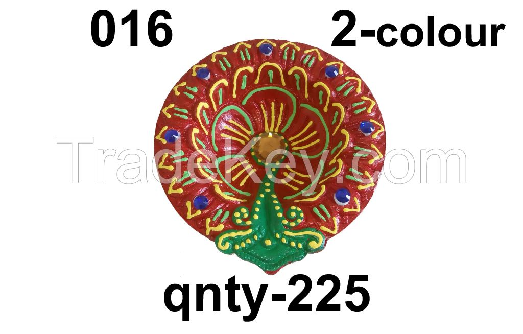 clay diya , decorarive deya ,
