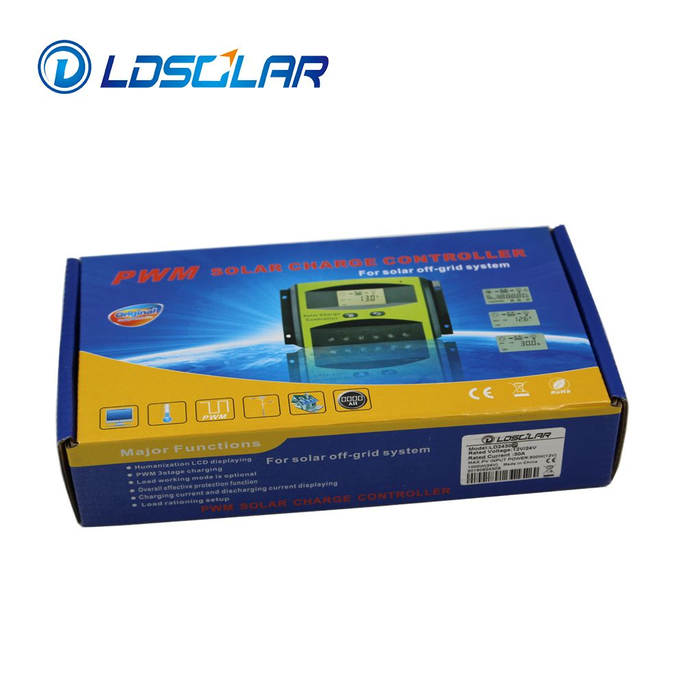 12v/24v 30a pwm solar charge controller from original factory LDSOLAR