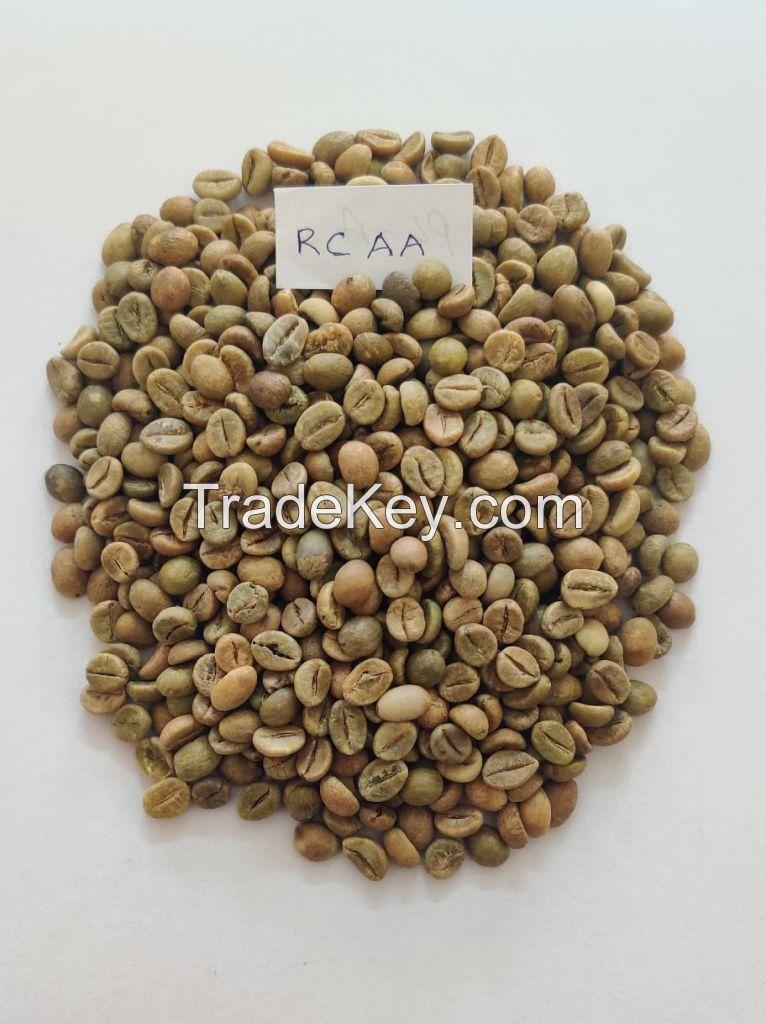 Green Coffee Beans Robusta Cherry Screen 18