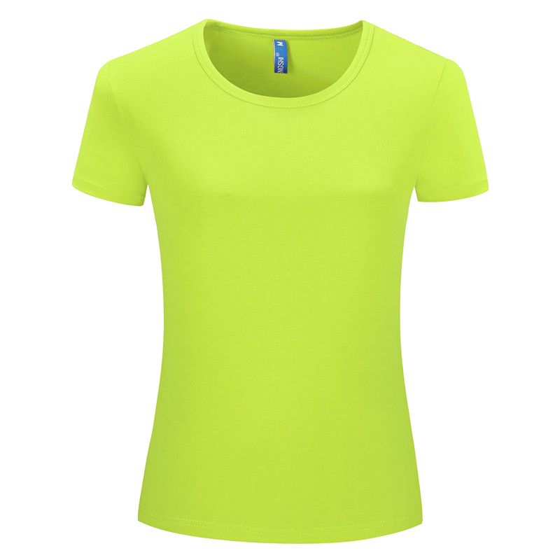 Combed cotton round neck polo t shirts short sleeve custom logo womens T shirt