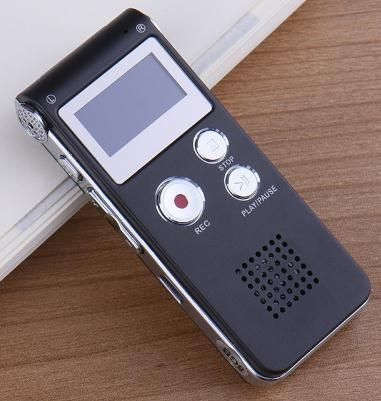 Factory Wholesale 2018 Rechargeable 8GB Digital Audio/Sound/Voice Recorder Dictaphone