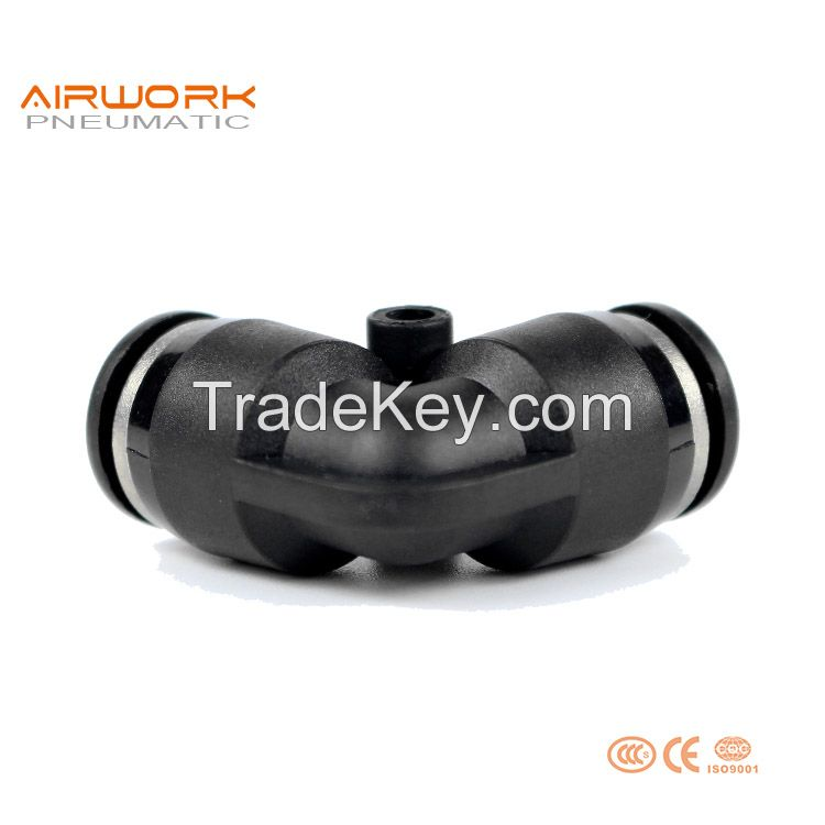 PV Pneumatic Plastic L Type 90 Degree Elbow Push In Quick Fitting Easy Fit Connectors