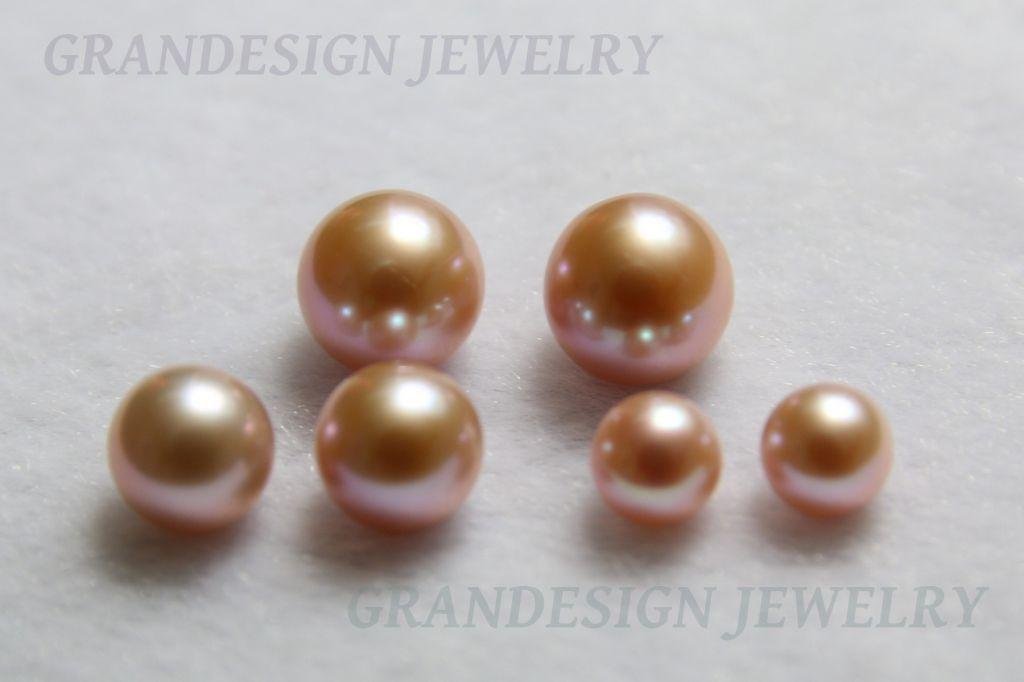 Half-Drilled Freshwater Pearls - Round -01