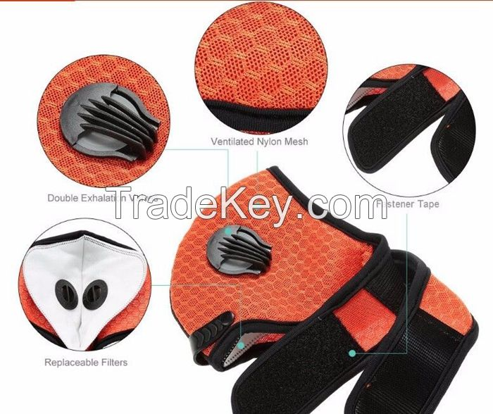 Kawang Anti-pollution Cycling Mask Breathable Nylon Mesh Training Respirator for bikers