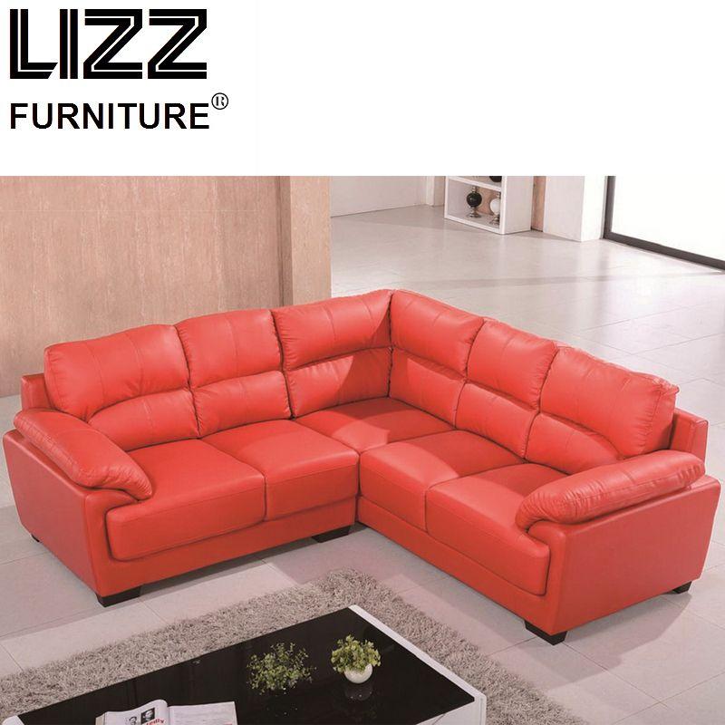 Modern Italian Style Leather Corner Sofa