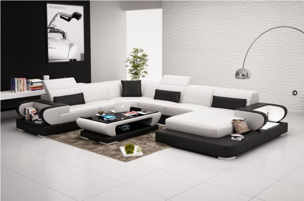 Living Room Furniture U Shape Leather Sofa